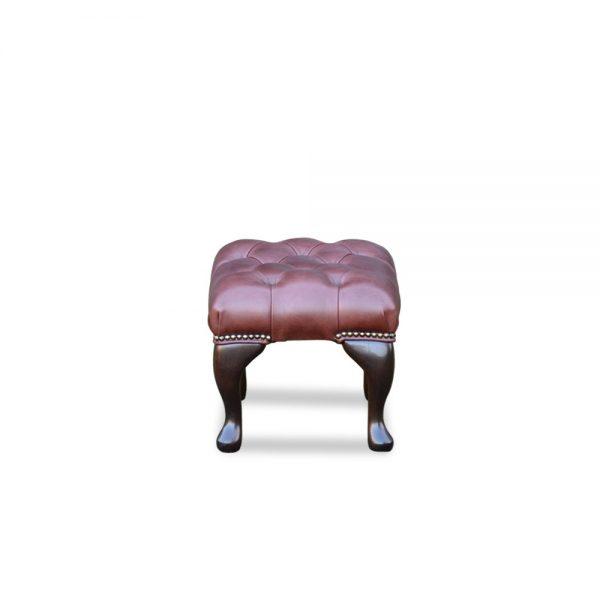 18x12 voetstoel - old English dark brown