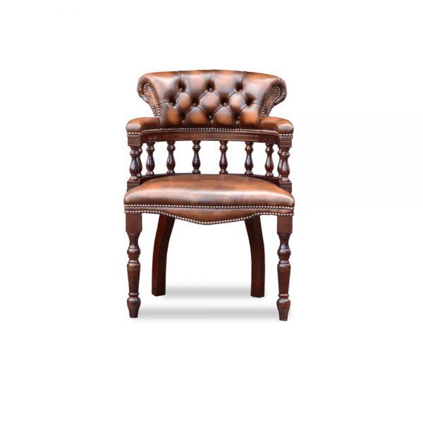 Captains diner chair - antique autumn tan