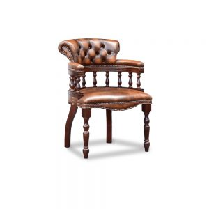 Captains diner chair - antique autumn tan
