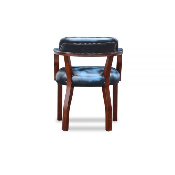 Court diner chair - antique blue