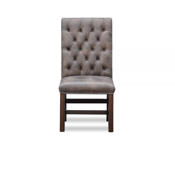 Gainsborough diner chair straight top - tribe light moss