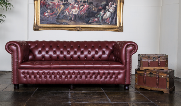 Rossendale 3 zits buttoned seat - sauvage leather