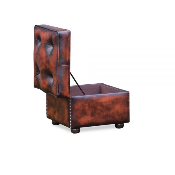 Square slipperbox - antique dark rust