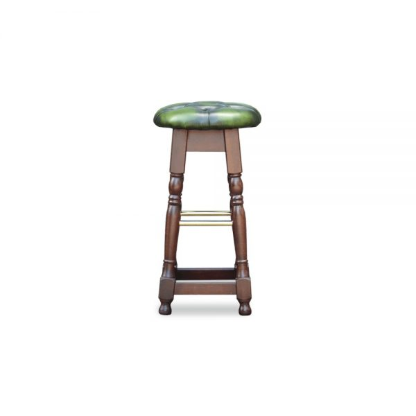 Tudor high barstool - antique green