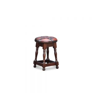 Tudor low barstool - antique dark rust