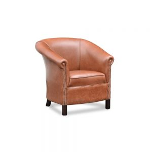 Byron tub chair plain - new England saddle