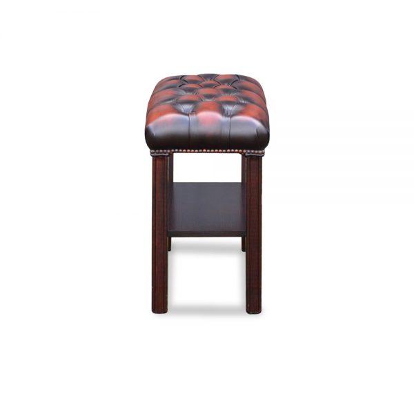 Book stand stool - antique dark rust