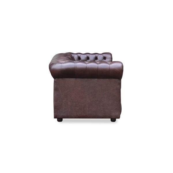 Glenwood 3 zits buttoned seat - old English smoke