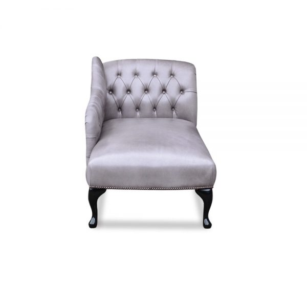Queen Anne chaise - old English lead