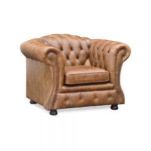 Blenheim fauteuil - faeda vintage cognac