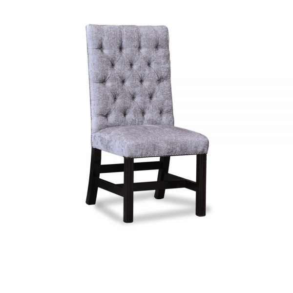 Gainsborough diner chair - velvet karina grey