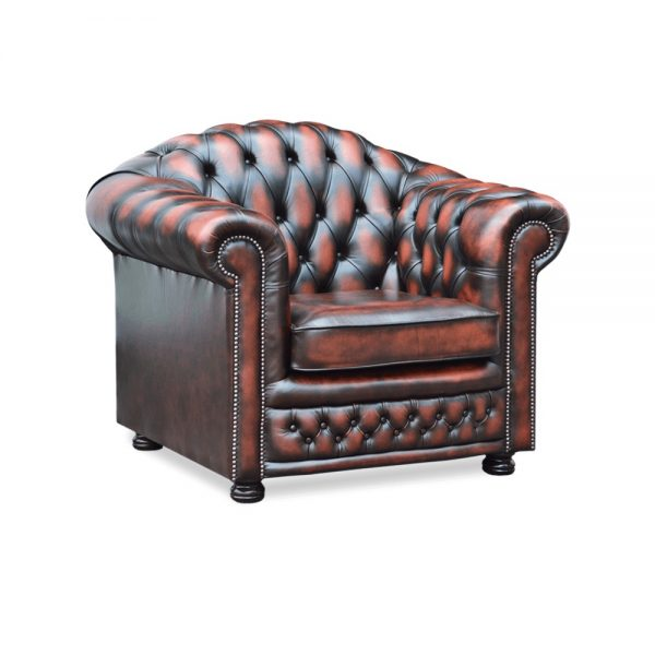 Nottingham fauteuil - antique dark rust