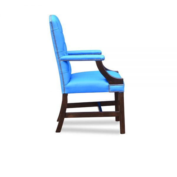Gainsborough XL carver chair - shelly majolica blue