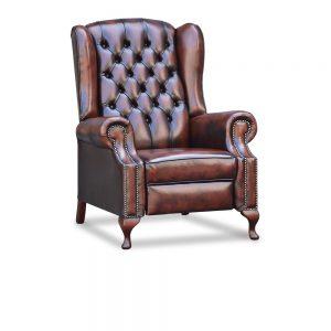 Hampton recliner - antique dark rust