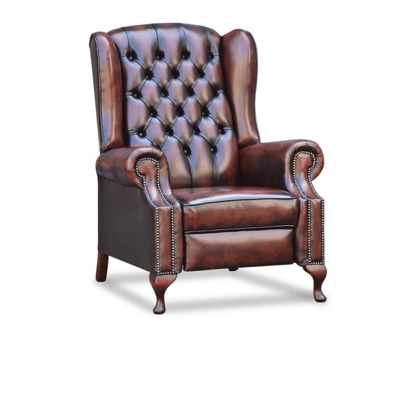 Hampton recliner - antique dark rust