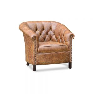 Byron XXL tub chair - vintage cognac