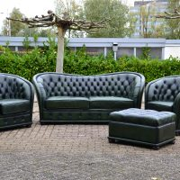 Curved Chesterfield 3-1-1 zits Green