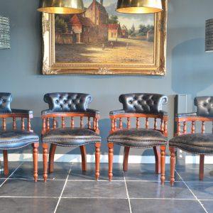 Captains chairs vintage black