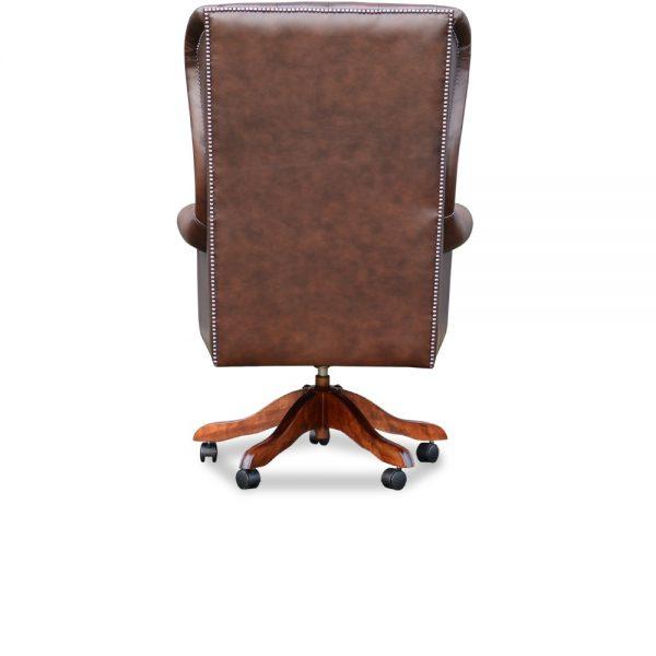 Roll arm chair - antique chestnut