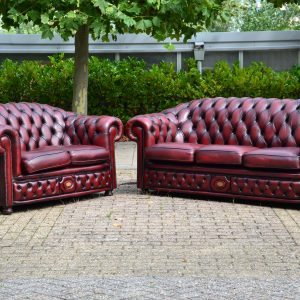 Chesterfield 3 - 2 zits - antique red