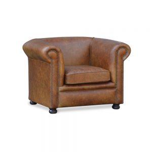 Rossendale plain fauteuil - vintage cognac