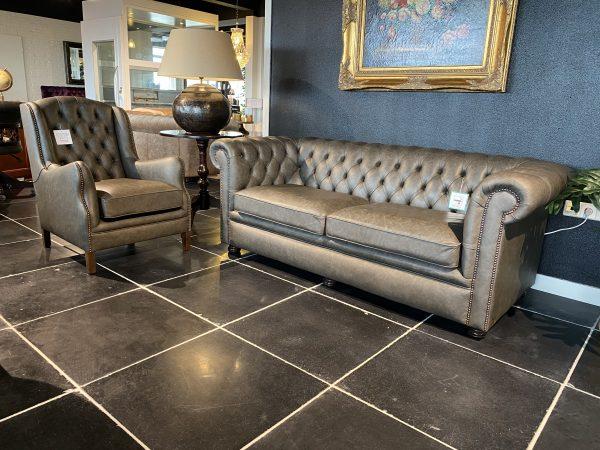 Glenwood 3 zits - Duke chair - Saloon grey